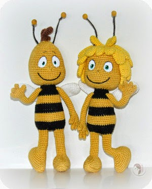 Amigurumi Basic Doll Pattern : 2000 Free Amigurumi Patterns: Maya the Bee and het friend ...