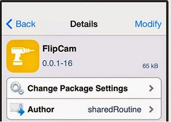 FlipCam - Free Cydia Tweak