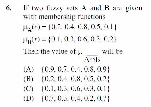 2012 June UGC NET in Computer Science and Applications, Paper III, Question 6