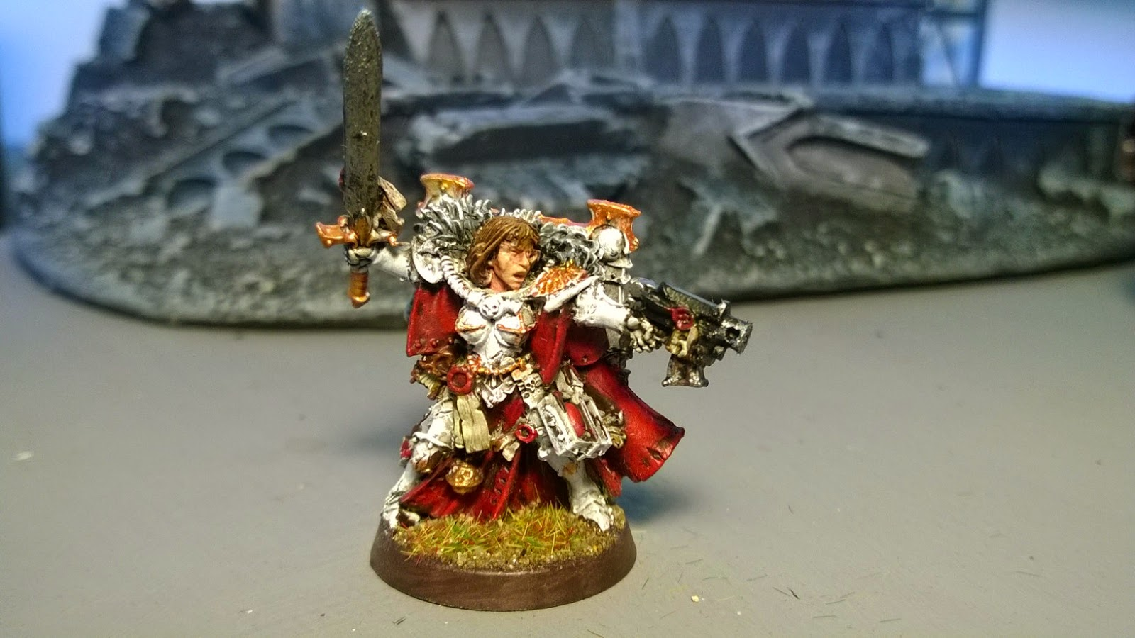 sisters of battle abbess colour red white hq