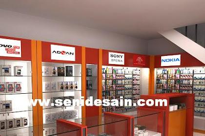 Harga design interior toko hp accesories handphone