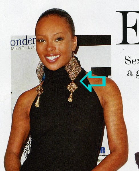 Eva Marcille wearing Jenny Dayco earrings