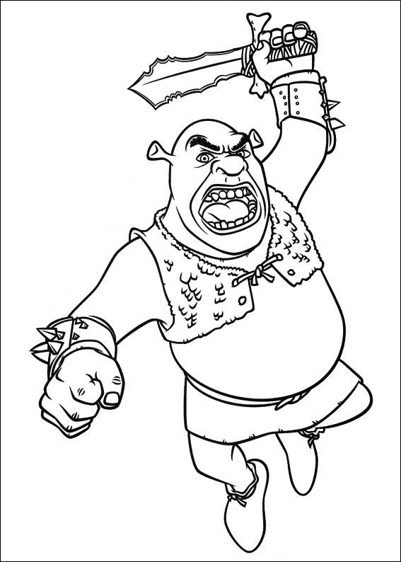 shrek dragon coloring pages - photo#28
