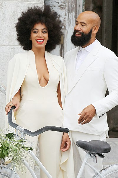 White wedding Solange Knowles and Alan Ferguson