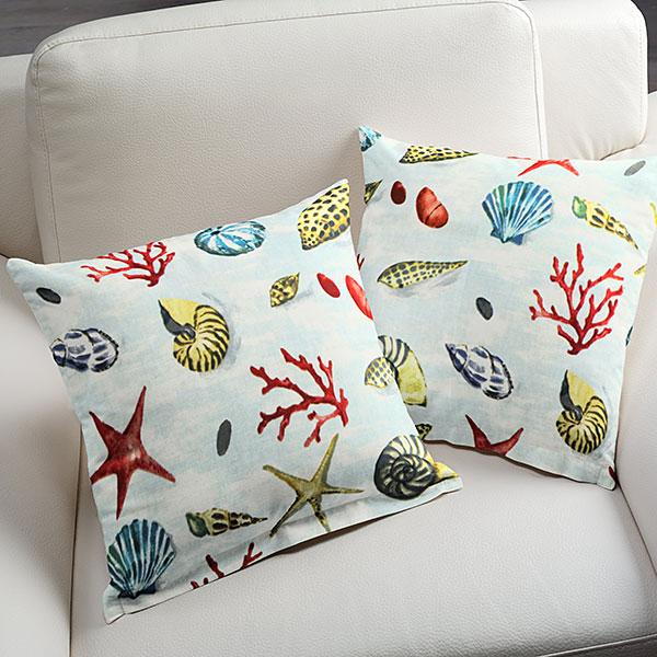 Cuscini con coralli ot59 regardsdefemmes for Tessuti arredo stile marina