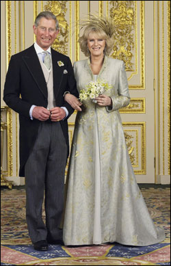 Royal Wedding: Prince Charles Philip Arthur George married with Camilla Parker Bowles, on 9 April 2005 at Windsor Guildhall.