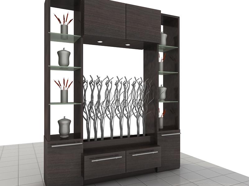 lemari sekat minimalis adalah difungsikan untuk pembatas ruang tamu ...
