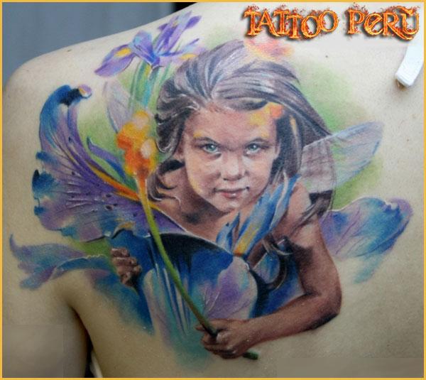 Tatuajes: Historia de los Tatuajes. 01_duende_con_flores