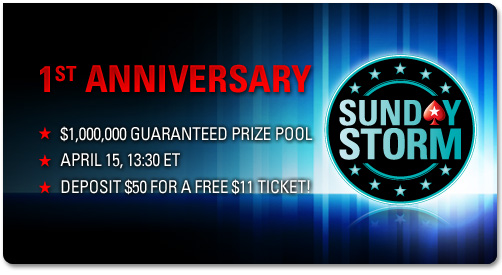 Pokerstars Free Ticket for Sunday Million