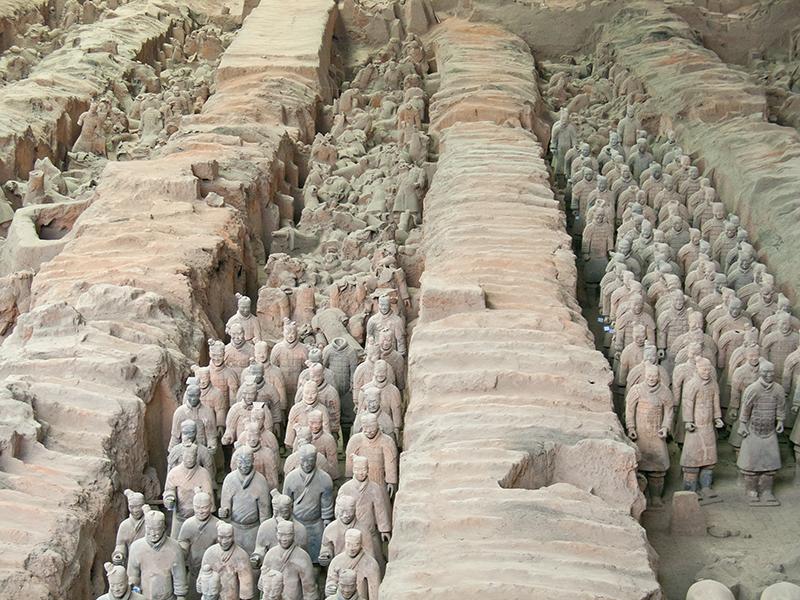Armée de soldats en terre cuite à Xi'an
