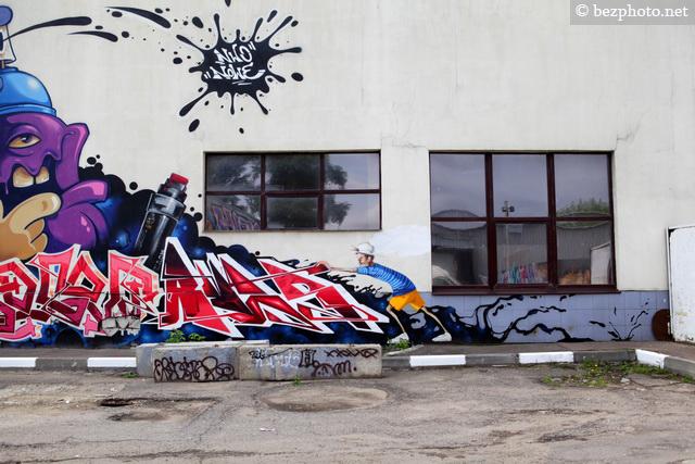 инетерсные граффити в москве