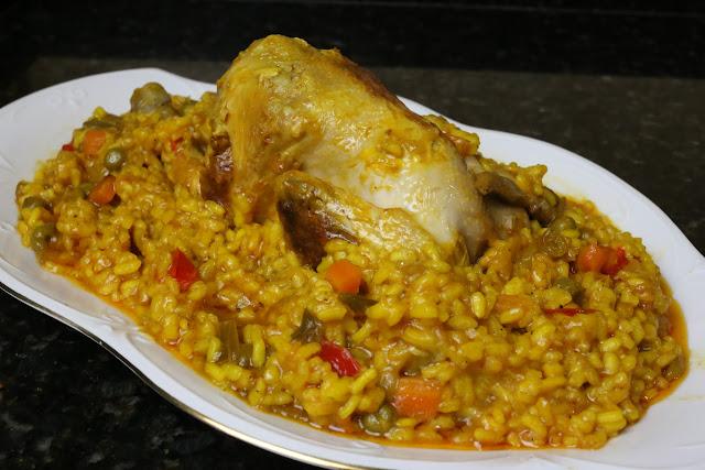 Picantones con arroz