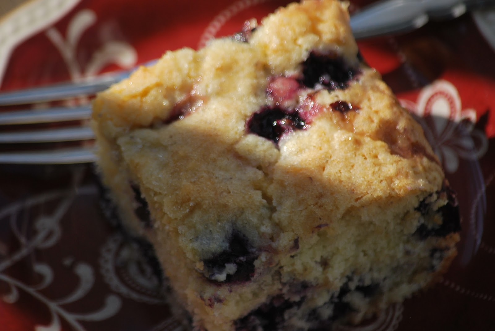 Blueberry Buttermilk Coffeecake Recipe — Dishmaps
