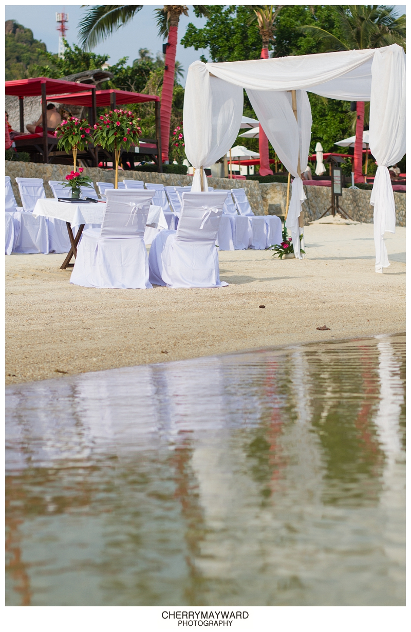 Ceremony set-up over the water, Koh Samui Beach Wedding