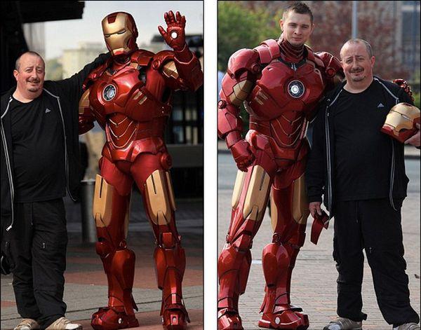 hombre de 44 años llamado Mark Pearson, comenta que solo inicio con el casco y de allí continuo hasta completar todo el traje de tamaño real. Iron man
