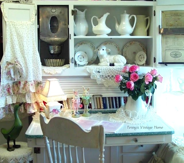 The Country Farm Home: I\'ll Take a Hoosier Cabinet, Please