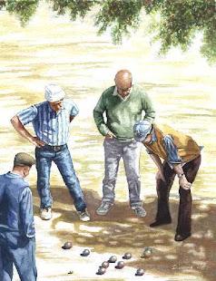 PARTIDA DE PETANCA (Pintura a l'oli)