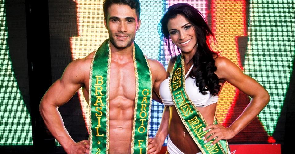 Junior Moreno e Marissol Dias - Garoto e Garota Fitness Brasil 2012 - Crédito: Leonardo Moraes/UOL