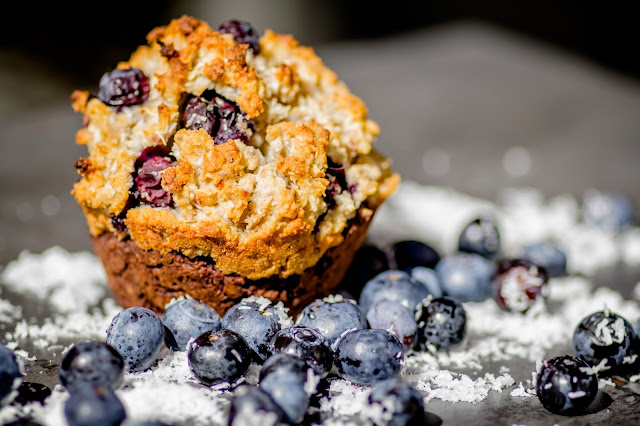 Muffin mit Heidelbeeren