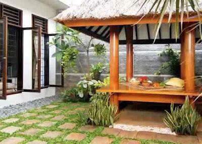 desain rumah minimalis sederhana gazebo