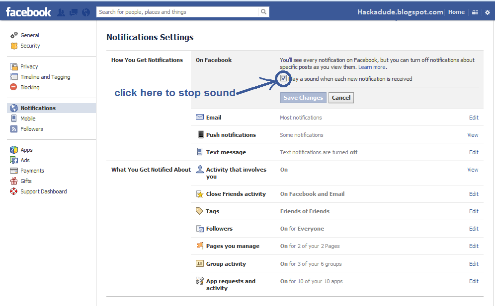 how to stop spam notifications on facebook