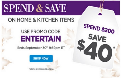 The Shopping Channel Spend & Save Home & Kitchen Items Spend $200 Save $40 Off Promo Code