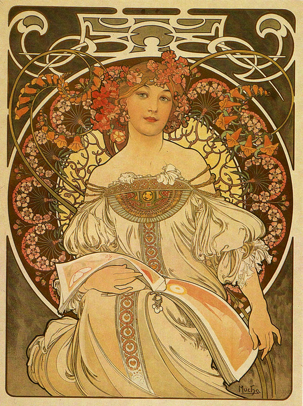 Top Alice's little box: Alfons Maria Mucha HI13