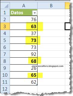 Sumar valores en negrita en Excel.
