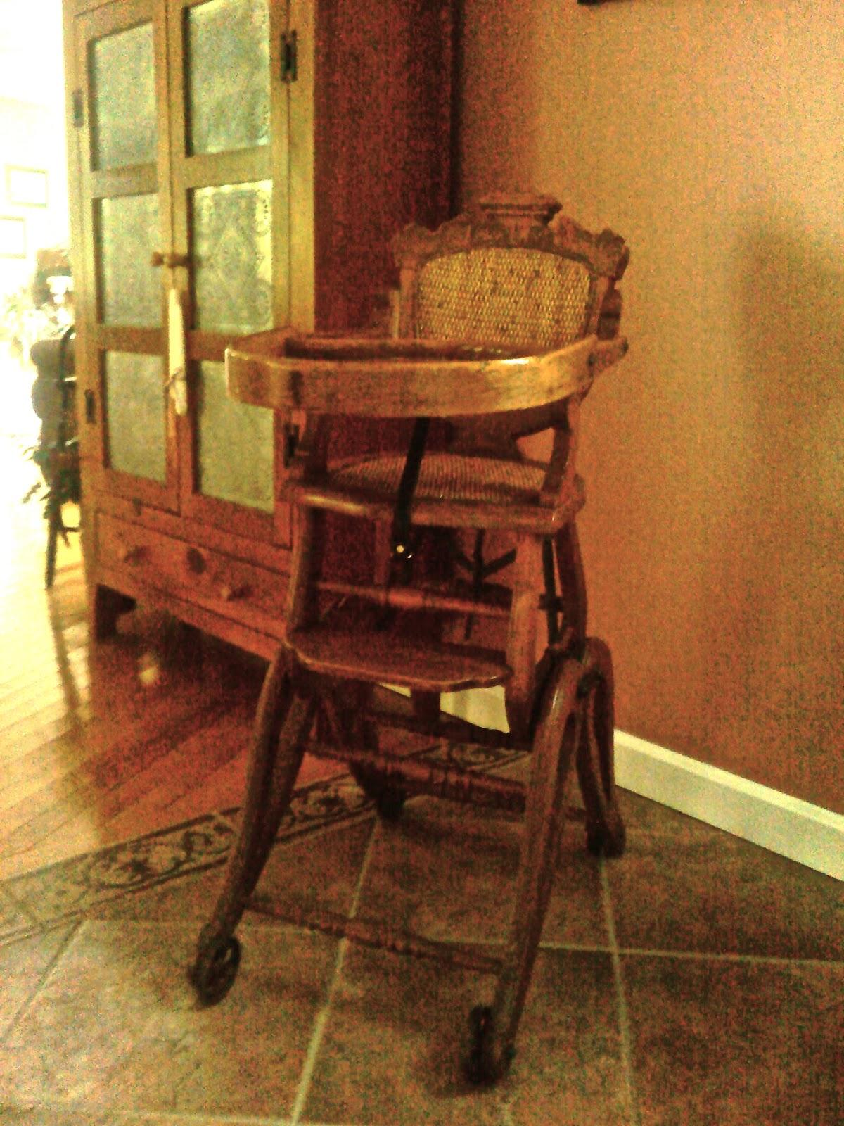 Child's High Chair / Rocker - Antique Treasures: Child's High Chair / Rocker