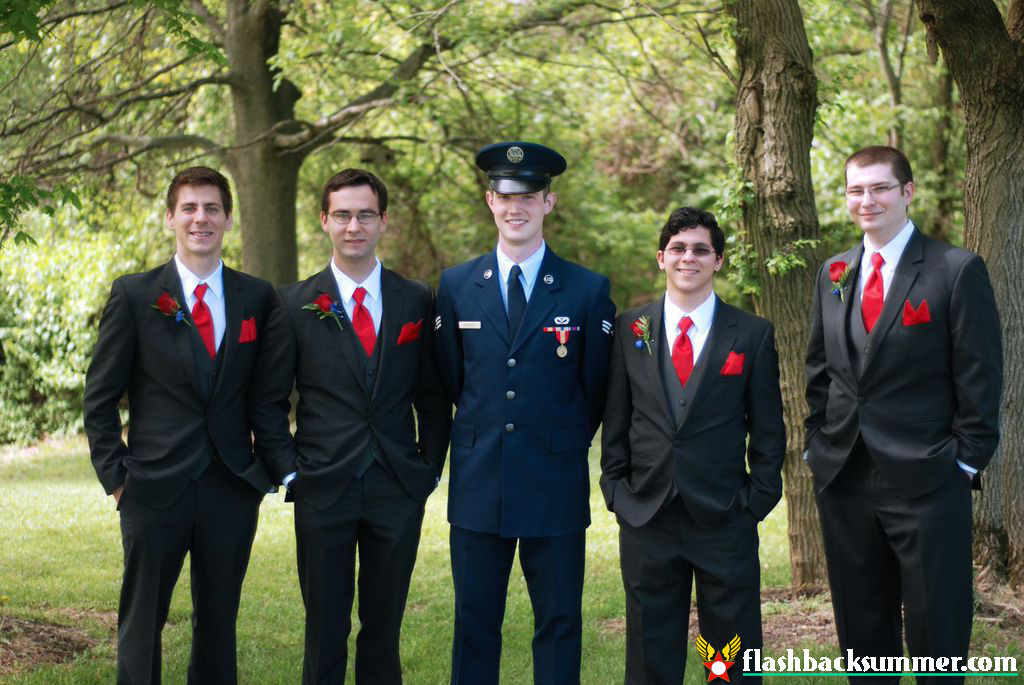 Flashback Summer: My 1940s Air Force Military Wedding - groomsmen