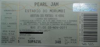 Ingresso Pearl Jam