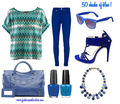 Fifty shades of blue outfit
