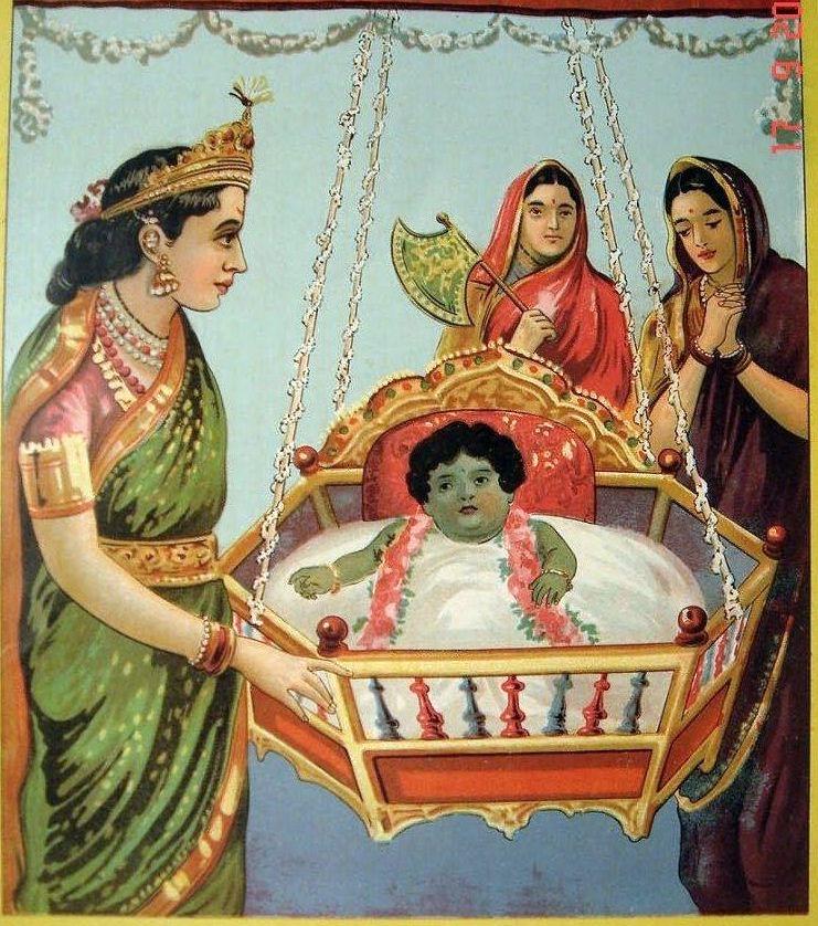krishna born to a virgin