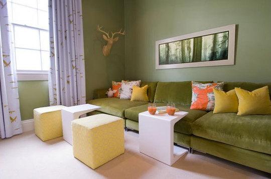 Combinaci n de colores en la decoraci n interior ideas - Combinar color naranja decoracion ...