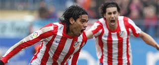 Doblete de Falcao en goleada del Atlético de Madrid