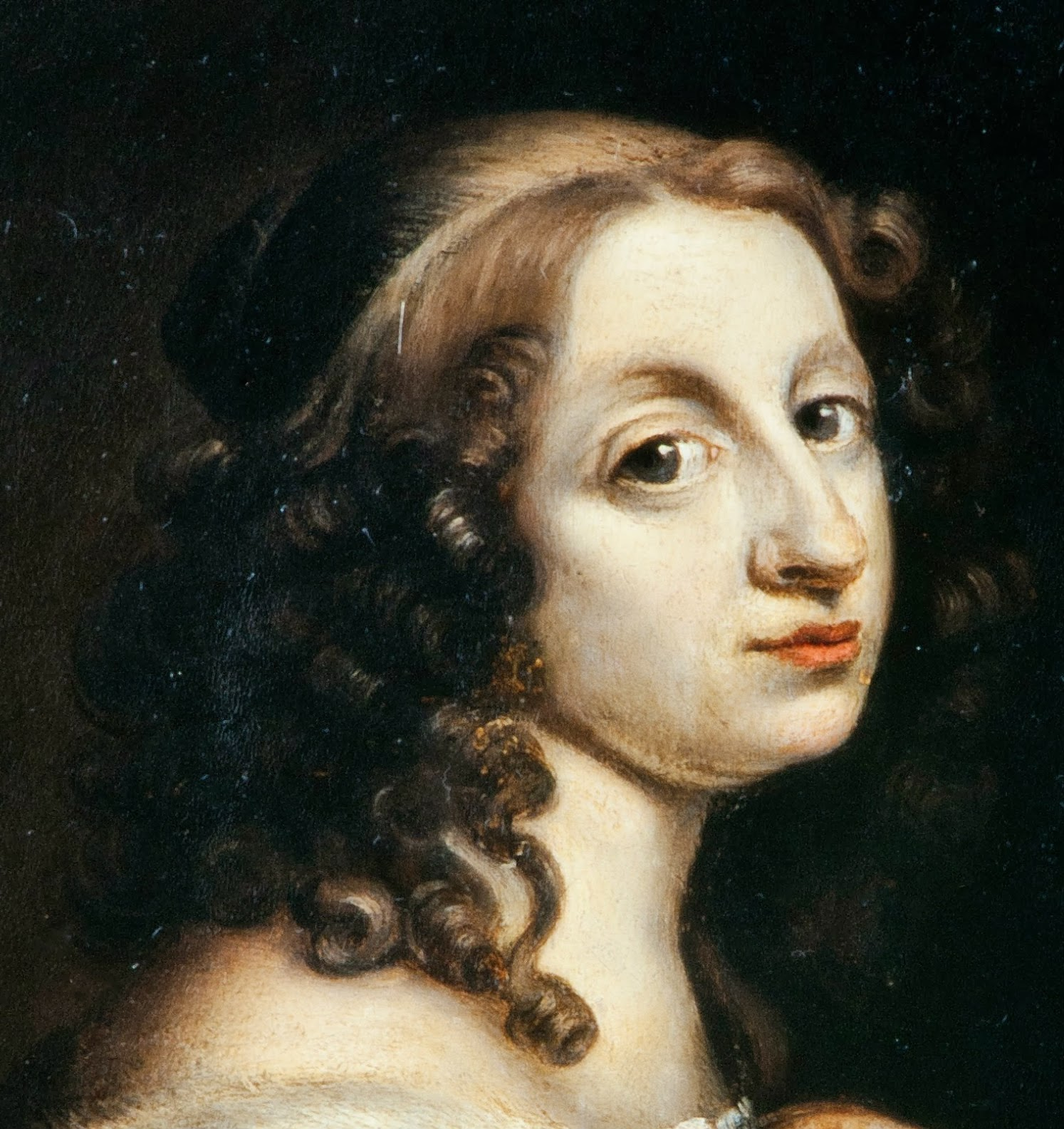 madame isis toilette a beautiful visage 17th century female beauty detail from a portrait of kristina queen of sweden by david beck ca 1650