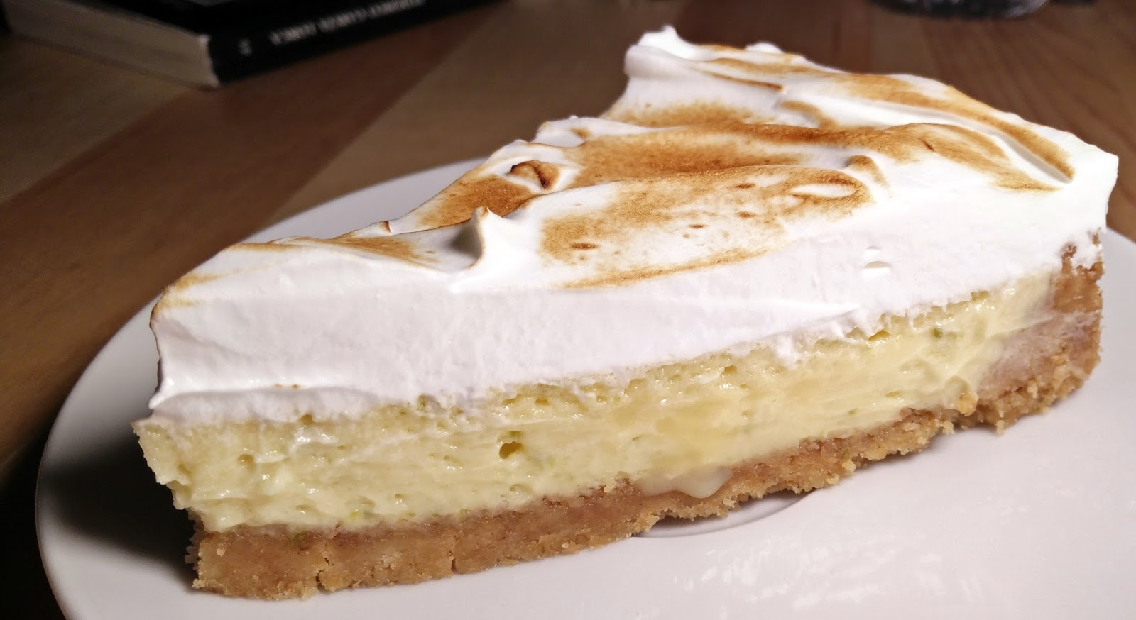 porción de key lime pie