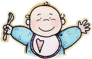 Dibujo de bebe con babero para imprimir