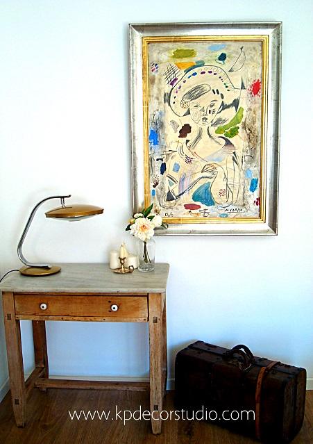 Decoración estilo vintage con lamparas y flexos de escritorio antiguos originales modelo fase 520c color dorado
