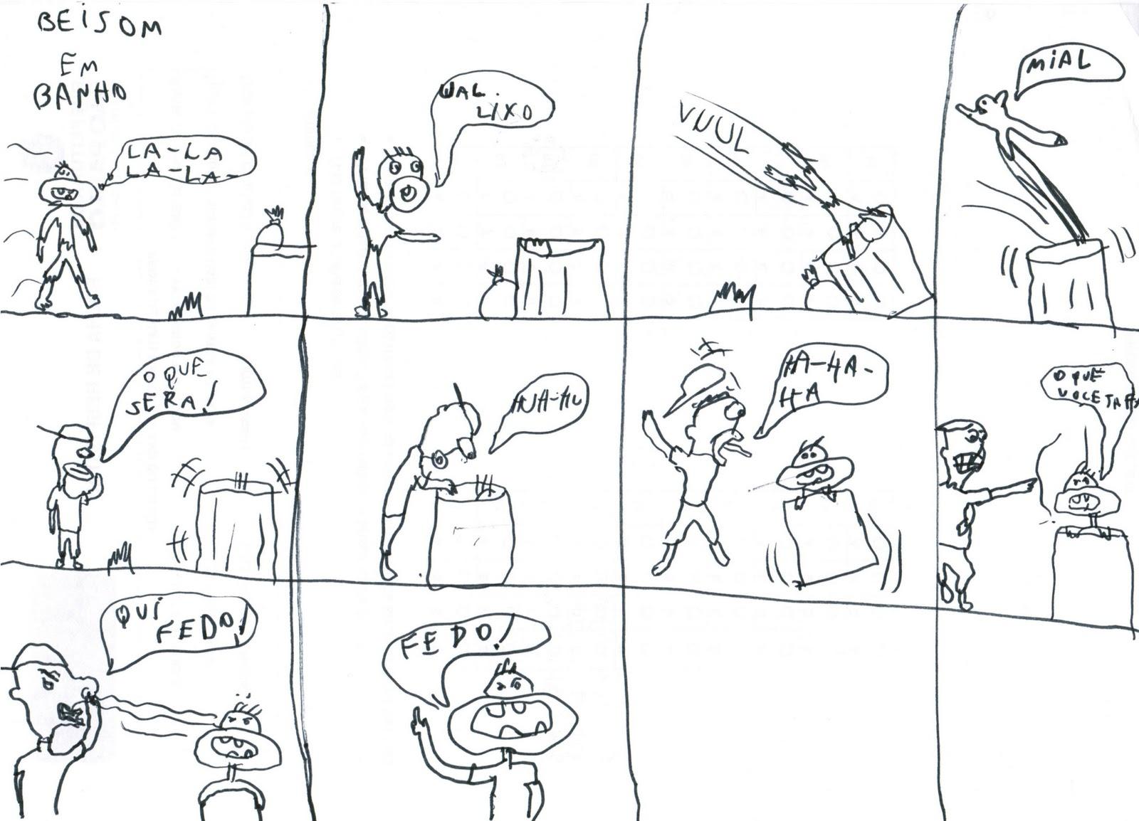 história em quadrinhos onomatopeia