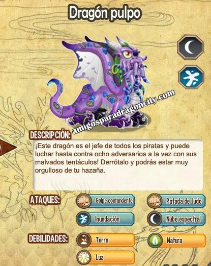 imagen de las caracteristicas del dragon pulpo