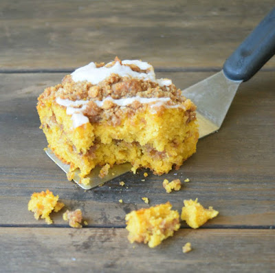 Pumpkin Coffee Cake - Delicious Dessert Recipes - Tuesday Talk Features - www.sweetlittleonesblog.com