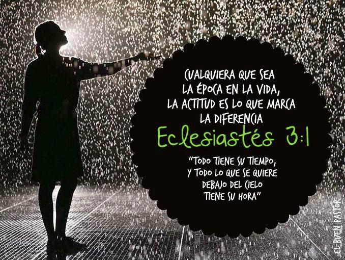 Muito YO SOY EL BUEN PASTOR: Eclesiastés 3:1 BT29