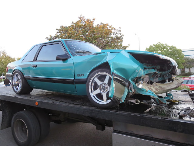 Totaled Ford Mustang GT