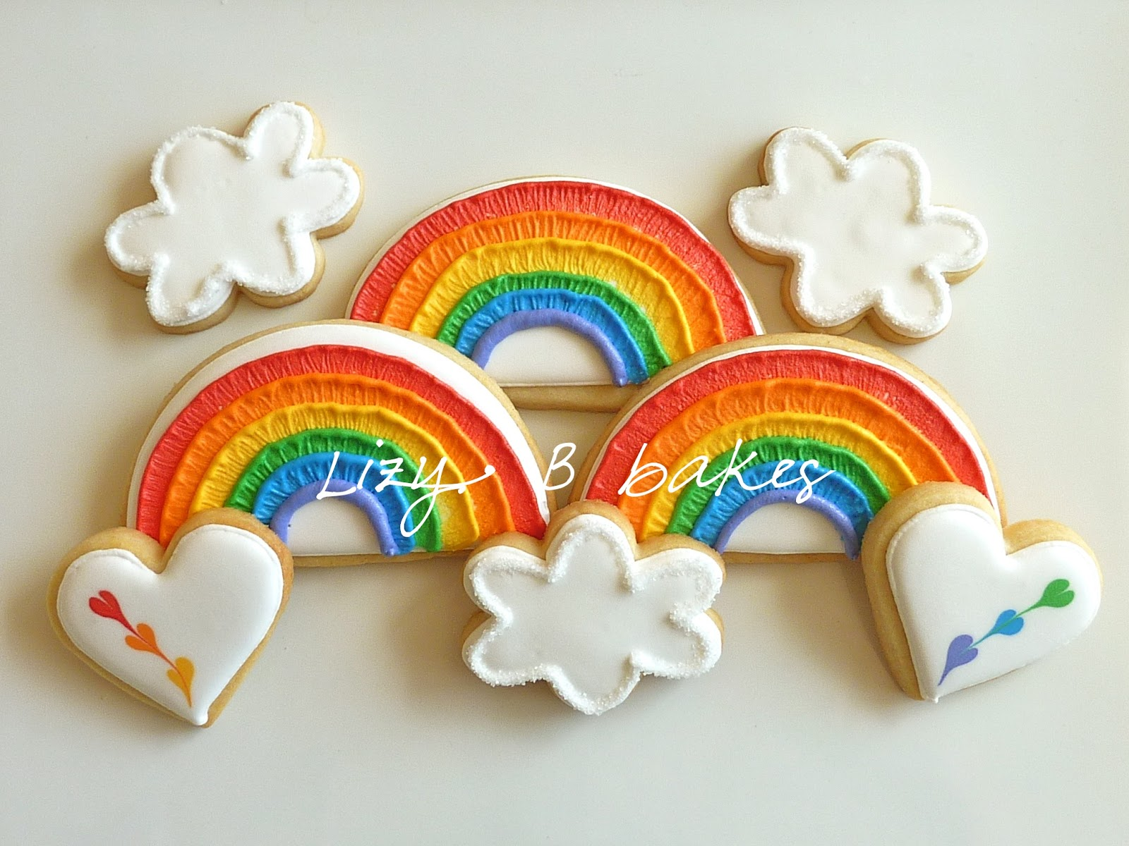 Lizy B: Brushed Rainbow Cookies!