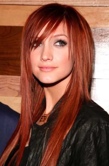 the perfect hair ashley simpson s red hair oh dang