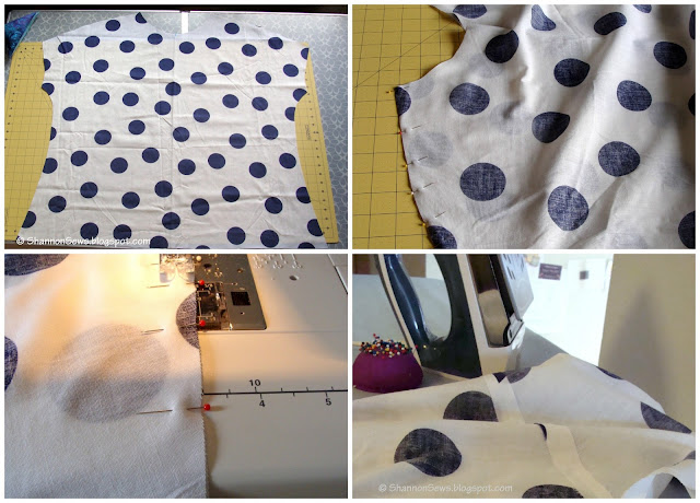 sew shoulder seams together first when making your own shirt