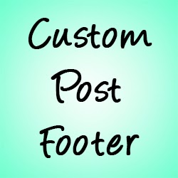 Add Custom Post Footer in Blogger