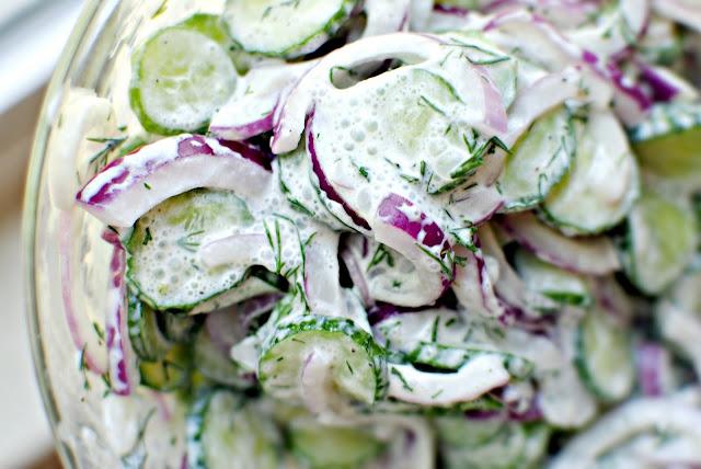 Салаты со сметаной рецепты с фото простые
