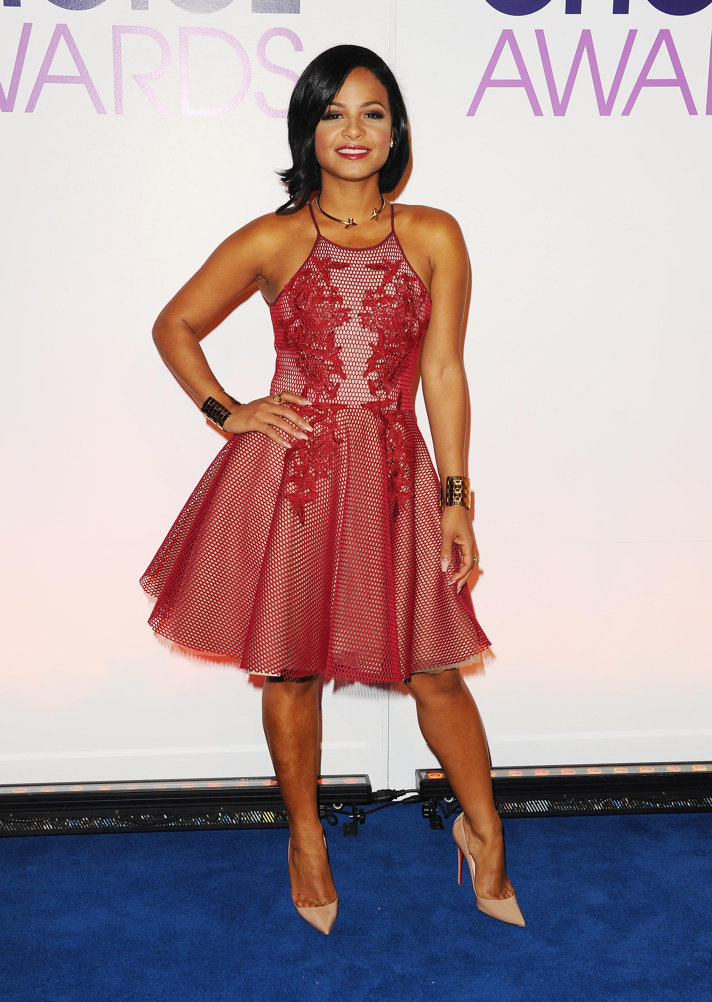 The Toe Cleavage Blog: Red dress - Christina Milian Christina Milian